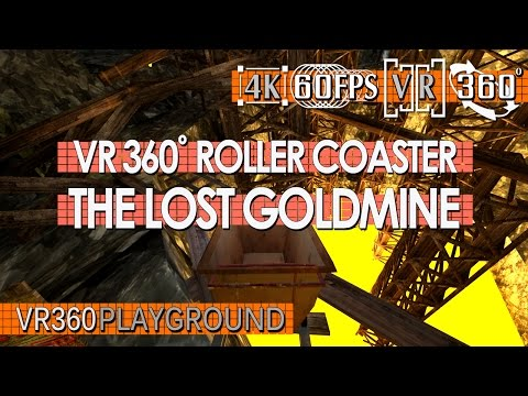 VR 360? Roller Coaster - The Lost Goldmine VR360 Playground
