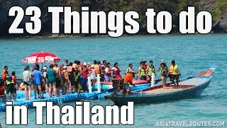 Things to do in Thailand Must-see Videos
