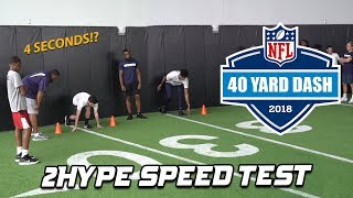 Who Has the FASTEST 40-yard Dash in 2HYPE? NFL Combine Workout