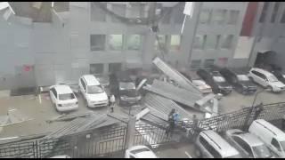 Ураган в Москве. Метро Щелковская