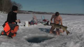 Chilly ice fishing