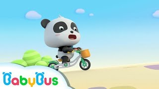 Baby Panda Learns to Ride a Bicycle   Car Song & Animation Collection   BabyBus