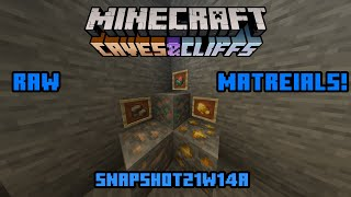 Minecraft 1.17 Snapshot 21w14a| Raw Materials! (works with fortune)