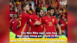 Thơ chế 32 đội bóng tham dự World Cup 2018