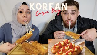 KOREAN MOZZARELLA CORN DOG MUKBANG ASMR | SUPER CRUNCHY, CHEESY, HOTDOG, EATING SHOW, EATING SOUNDS