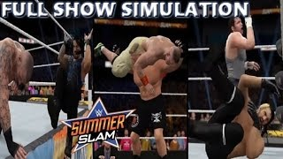 WWE 2K16 SIMULATION: SUMMERSLAM 2014 FULL SHOW HIGHLIGHTS
