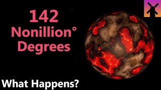 142 Nonillion Degrees; What Would Happen Next?