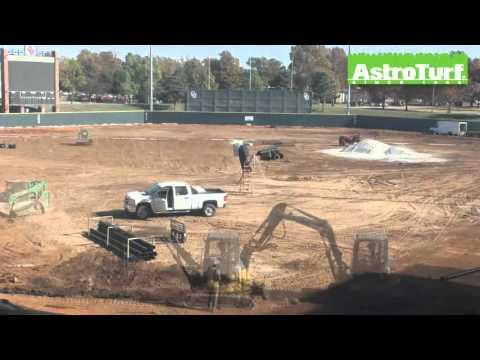 AstroTurf Installation at University of Oklahoma Sooners Baseball - Timelapse Video