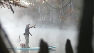 SUP fishing in the mist