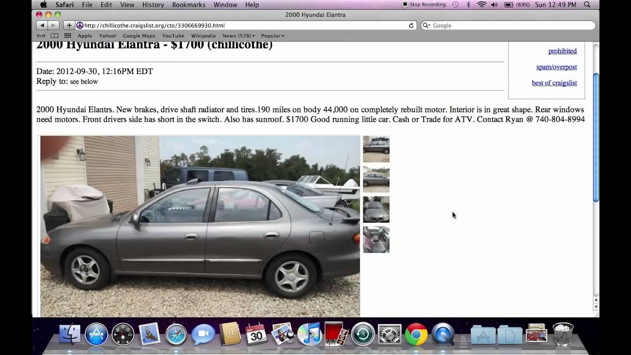Craigslist Greenville Sc Cars And Trucks By Owner: Craigslist Chillicothe Ohio Used Cars, Trucks And Vans