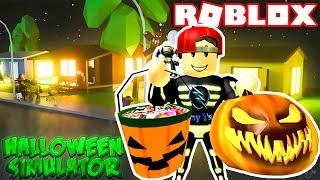 ROBLOX | Bộ Xương Vamy Bị Ghẹo Nhảy Obby Khi Xin Kẹo Đêm Halloween | Halloween Simulator | Vamy Trần
