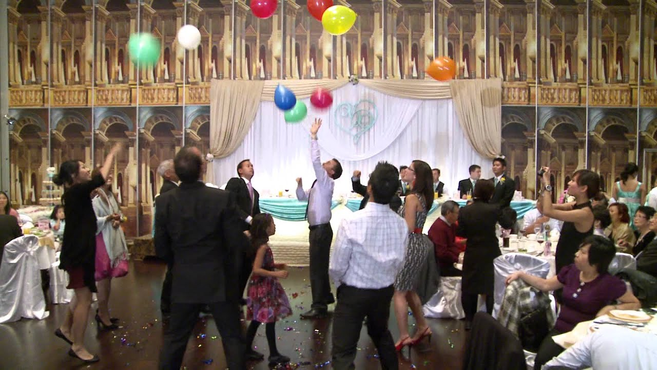 Funny Balloon Game At A Wedding Reception Premiere