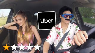 PICKED UP MY GIRLFRIEND IN AN UBER UNDER DISGUISE!!