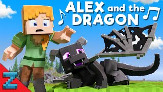 """Alex and the Dragon"" [VERSION A] Minecraft Animation Music Video (""Fly Away"" Song by TheFatRat)"