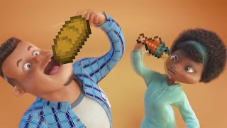 grubhub ad but replaced with minecraft sounds