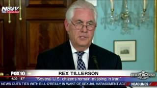 WATCH: Rex Tillerson Gives Update On Iran Nuclear Deal