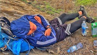 Chân đau lại còn ngã sml . Thanh niên chán đời nằm ngủ ven đường ( vũ duy hoàn tập 87 )