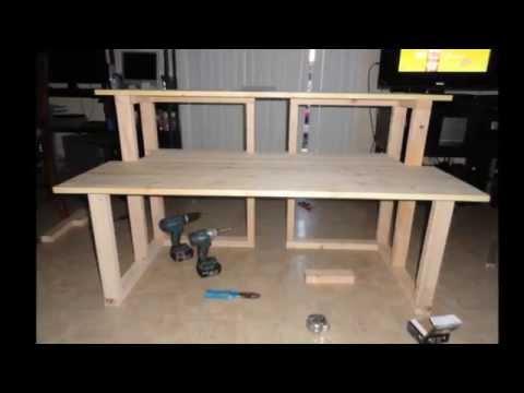 studio desk homemade - Music Production Desk