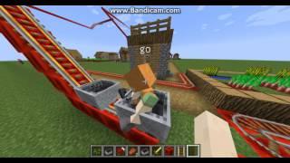 Xe lửa dài nhất Minecraft chạy xung quanh dân làng #1  ✔