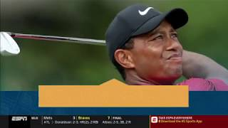 Tiger Woods sinks putt on 18th hole to win 1st Master since 2005
