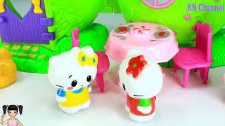 ChiChi ToysReview TV - Trò Chơi ngôi nhà trái táo của mèo hello kitty dễ thương