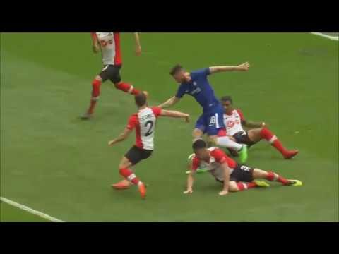 Giroud solo thần thánh như Messi trong vòng cấm hủy diệt 5 cầu thủ Southampton mở tỷ số cho Chelsea