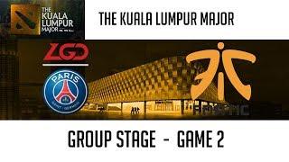PSG.LGD vs Fnatic (Game 2)   The Kuala Lumpur Major [Group C][Winners' Match]