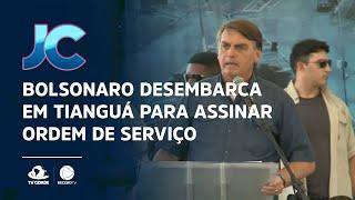 Bolsonaro desembarca em Tianguá para assinar ordem de serviço para obras