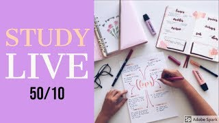 📚Study with me LIVE | 50/10 (with sound) 📚 8 HOURS