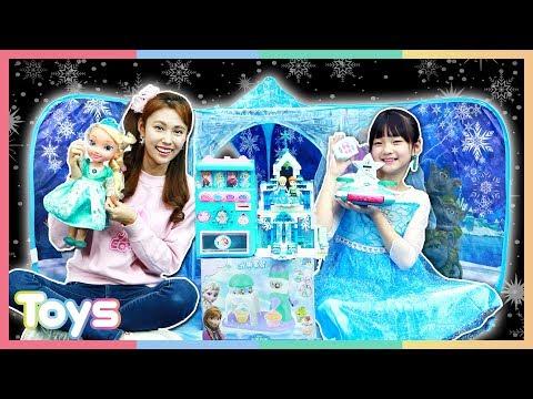 엘사로 변신! 캐리와 유니의 디즈니 겨울왕국 3D 놀이터로 장난감 가게 역할놀이ㅣ캐리와장난감친구들