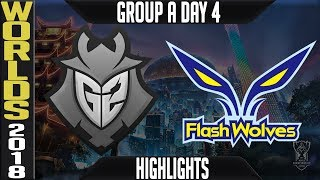 G2 vs FW Highlights | Worlds 2018 Group A Day 4 | G2 Esports(EULCS) vs Flash Wolves(LMS)