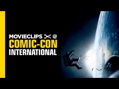 Gravity Comic-Con Exclusive Clip REVIEW (2013) George Clooney Sandra Bullock Movie HD