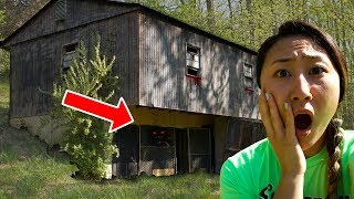 EXPLORING HAUNTED ABANDONED HOUSE!! (HAUNTED FOREST) 😱