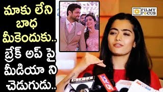Vijay Devarakonda smashes reporter for asking Rashmika abo..