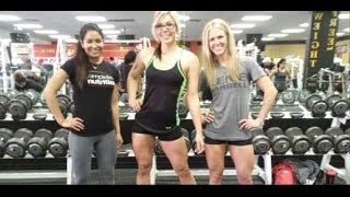 The CT FLETCHER Gauntlet on Leg day with 1FitAshMom at GOLD'S GYM, Abilene, TX!