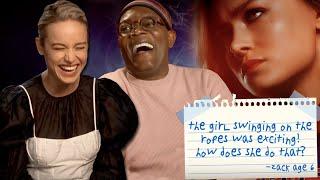 Brie Larson & Samuel L Jackson Answer Kids' Questions About 'Captain Marvel'   PopBuzz Meets
