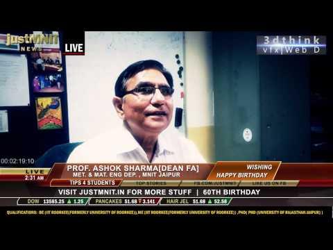 Coffee With DEAN(faculty affair),Prof. Ashok Sharma,MNIT jaipur