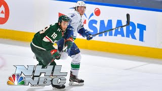 NHL Stanley Cup Qualifying Round: Canucks vs. Wild | Game 3 EXTENDED HIGHLIGHTS | NBC Sports