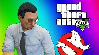 GTA 5 Glitches & Mods - FIB Building Mission, Ghostbusters, Big Poop, Elevator Shaft (GTA 5 Online)