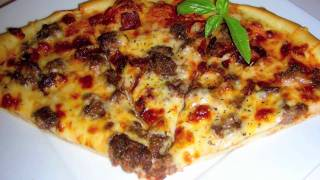 Bacon Cheeseburger Pizza Recipe - Dough and Sauce from Scratch
