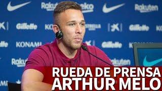 Rueda de prensa de Arthur en su presentación con el Barcelona desde el Camp Nou | Diario AS