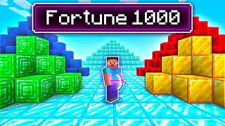 Hardcore Minecraft But With Fortune 1000 Pickaxe...