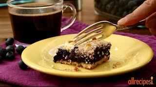 How to Make Blueberry Crumb Bars   Dessert Recipes   Allrecipes.com