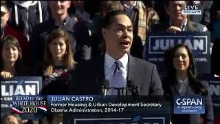 """Julian Castro: """"I am a candidate for President of the United States of America."""" (C-SPAN)"""