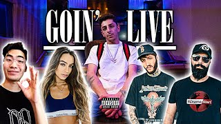 "YouTubers React To My New Song ""Goin' Live"""