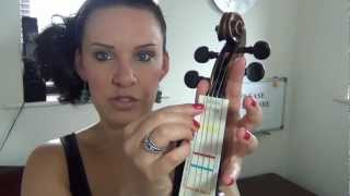 HOW TO: Put Finger Stickers/Markers on your Violin - DONT FRET!!