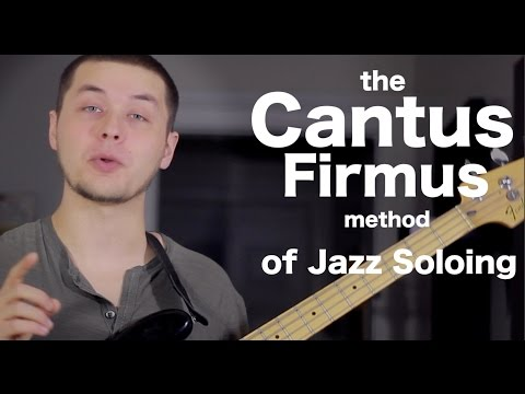 Cool jazz soloing technique - the Cantus Firmus Method [ AN's Bass Lessons #20 ]