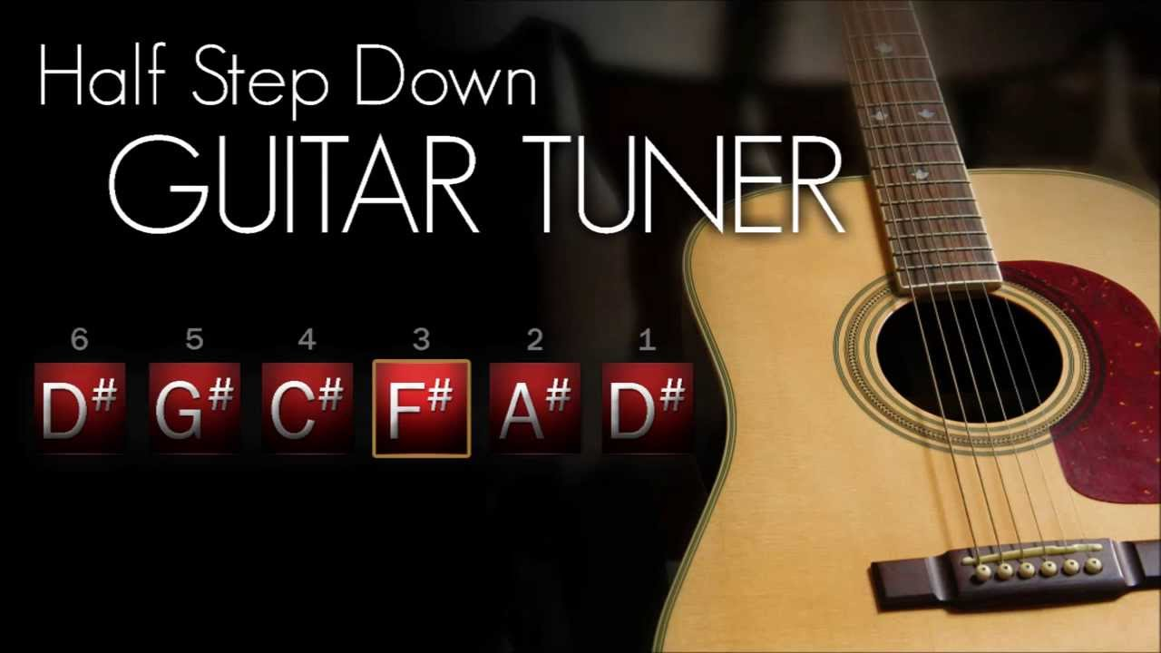 half step down guitar tuner acoustic interactive youtube. Black Bedroom Furniture Sets. Home Design Ideas