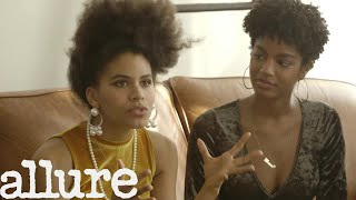 Zazie Beetz and Dascha Polanco Discuss How the World Sees Their Natural Hair | Allure