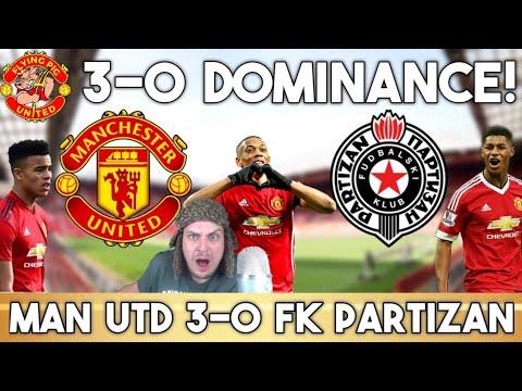 Manchester United VS FK Partizan 3-0   Greenwood, Martial & Rashford Score